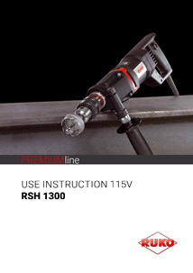 RUKO Use instruction RSH1300 USA 115V