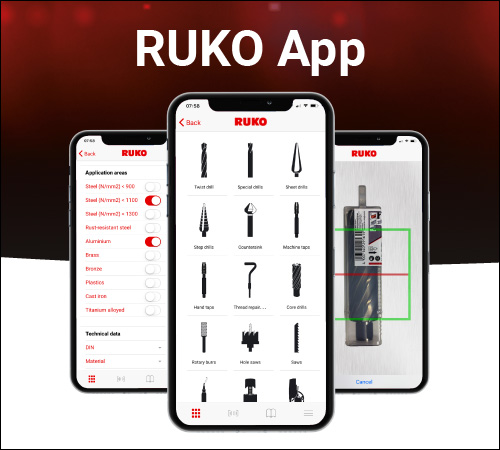 The RUKO app: Find RUKO products quickly and easily